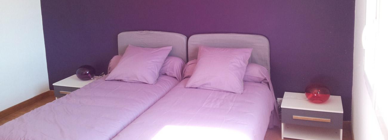 2 lits 1place dans la chambre lavande