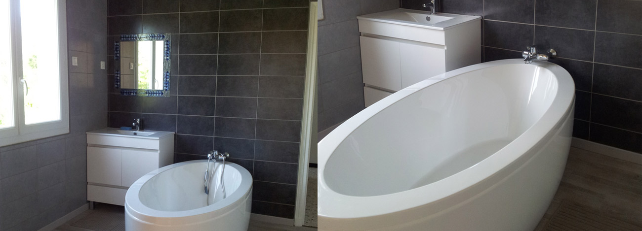 Vu de la salle de bain